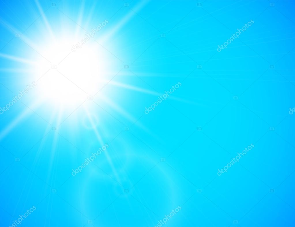 Summer sun with lens flare