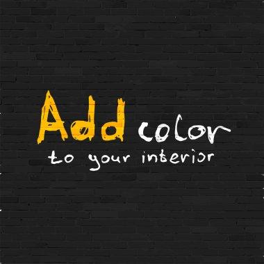 Add color to your interior phrase