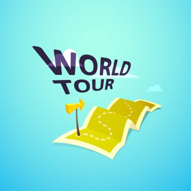 World tour concept logo