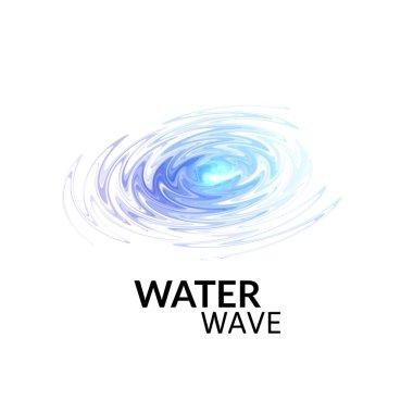 Radial sonar water waves