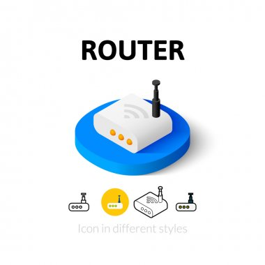 Router icon in different style