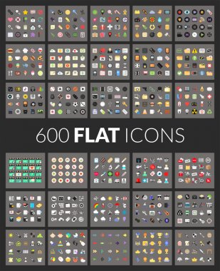 Large icons set