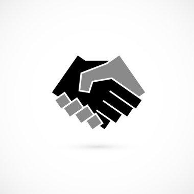 Handshake abstract logo