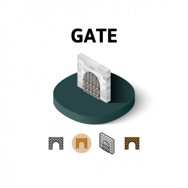 Gate icon in different style