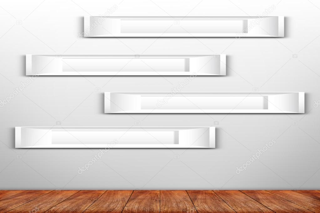 Collage aus weißen Bilderrahmen an der Wand — Stockfoto © pritsadee ...