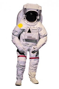 Astronaut suit on white background