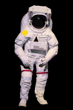 astronaut suit on black background