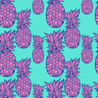 Pineapple pattern - vector