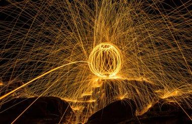 Fireball show amazing at night