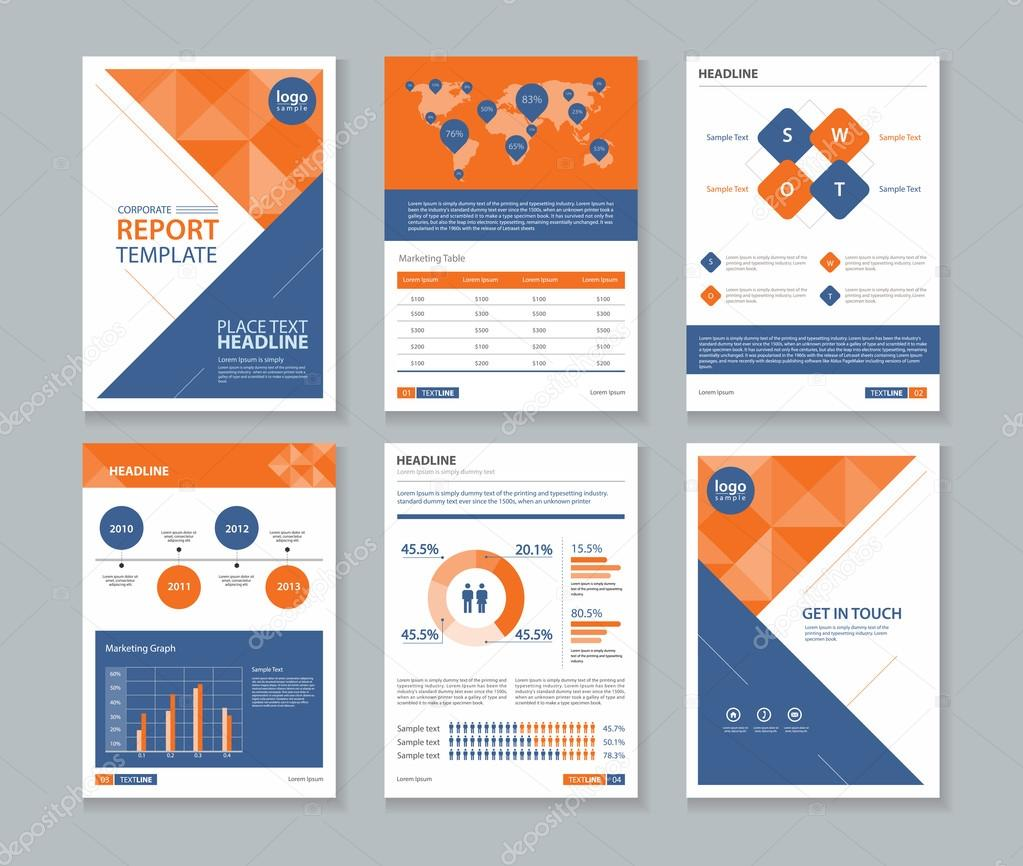 Company Profile  Annual Report   Brochure   Flyer  Page Layout Template And Business Info Chart