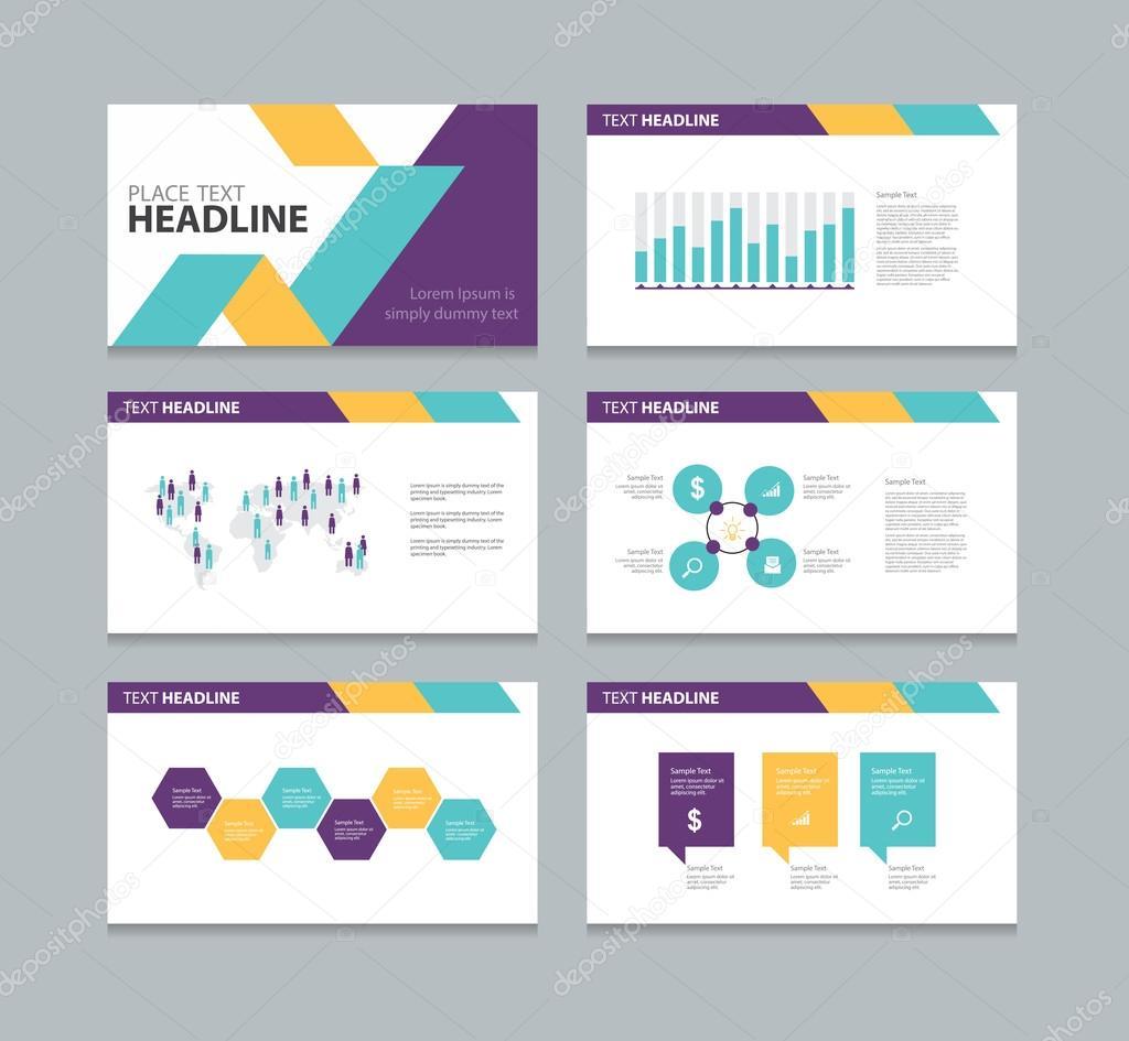 Seite pr sentation layout design vorlage stockvektor for Layout design online