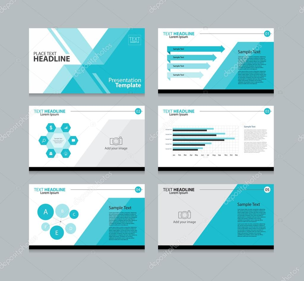 page presentation layout design template stock vector tcdesign