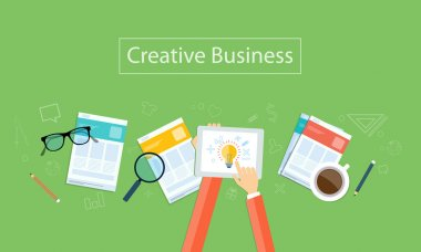 Vector creative business idea background