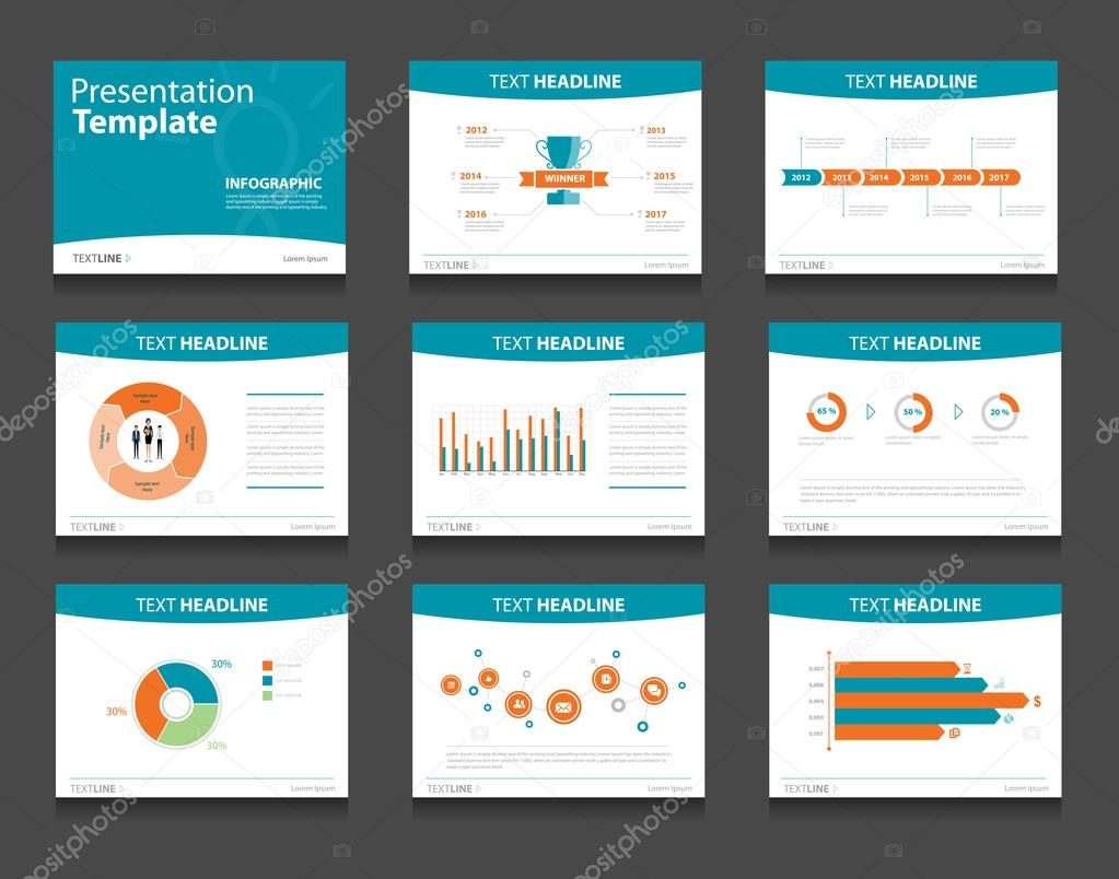 business presentation slide background design template concept vector by tcdesign