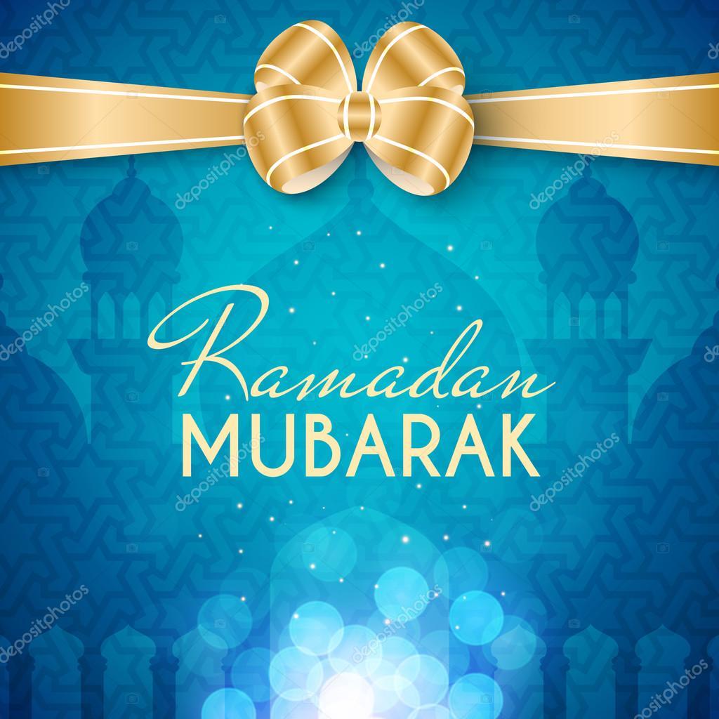 Ramadan Mubarak Greeting Card Stock Vector Lianella 113372760