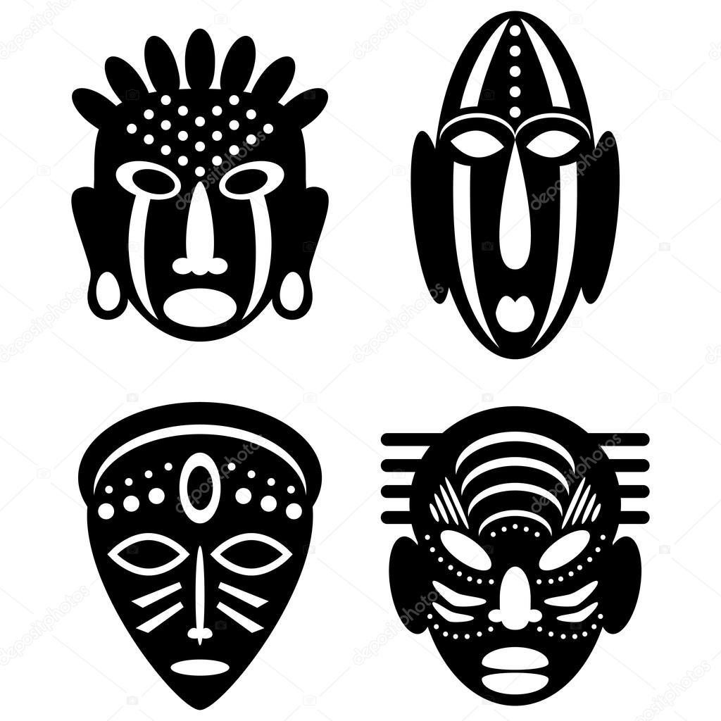 african masks tribal design � stock vector 169 lianella