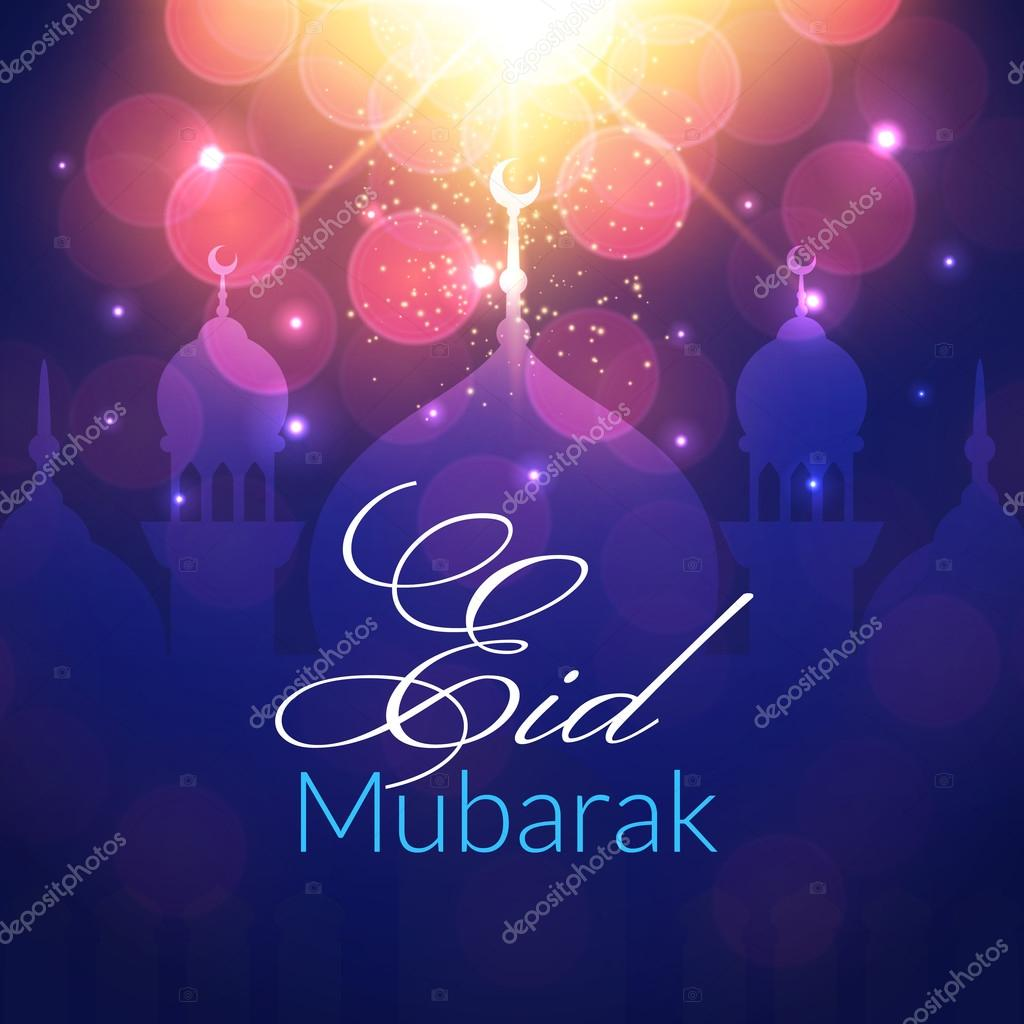 Eid mubarak greeting card with mosque stock vector lianella eid mubarak greeting card with mosque stock vector kristyandbryce Choice Image