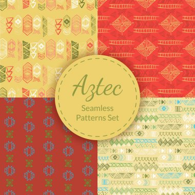 Native American Seamless Patterns Set