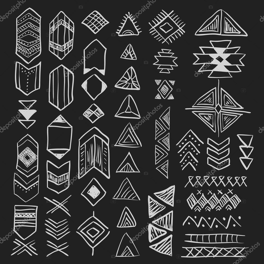 native american symbols set u2014 stock vector lianella 80301378