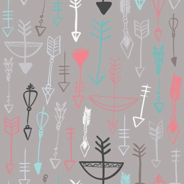 arrows and bows seamless pattern