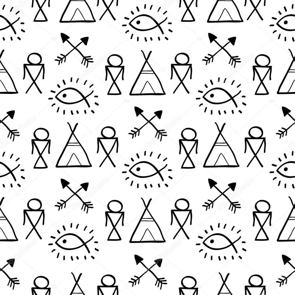 Native American Seamless Pattern Stock Vector Lianella 81154872