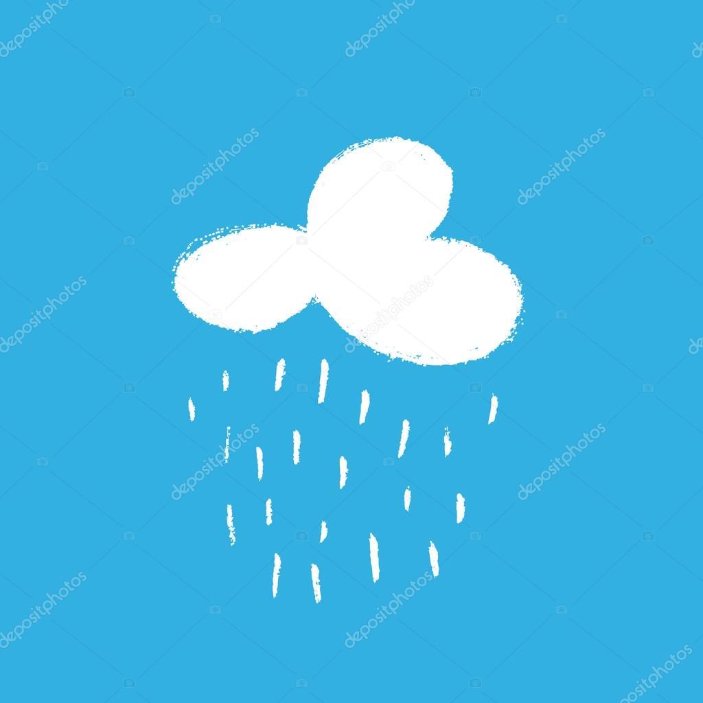 白い雲と雨、手描きの背景イラスト — ストックベクター © irmun #99684308