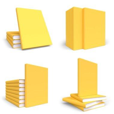 Set of mock up books