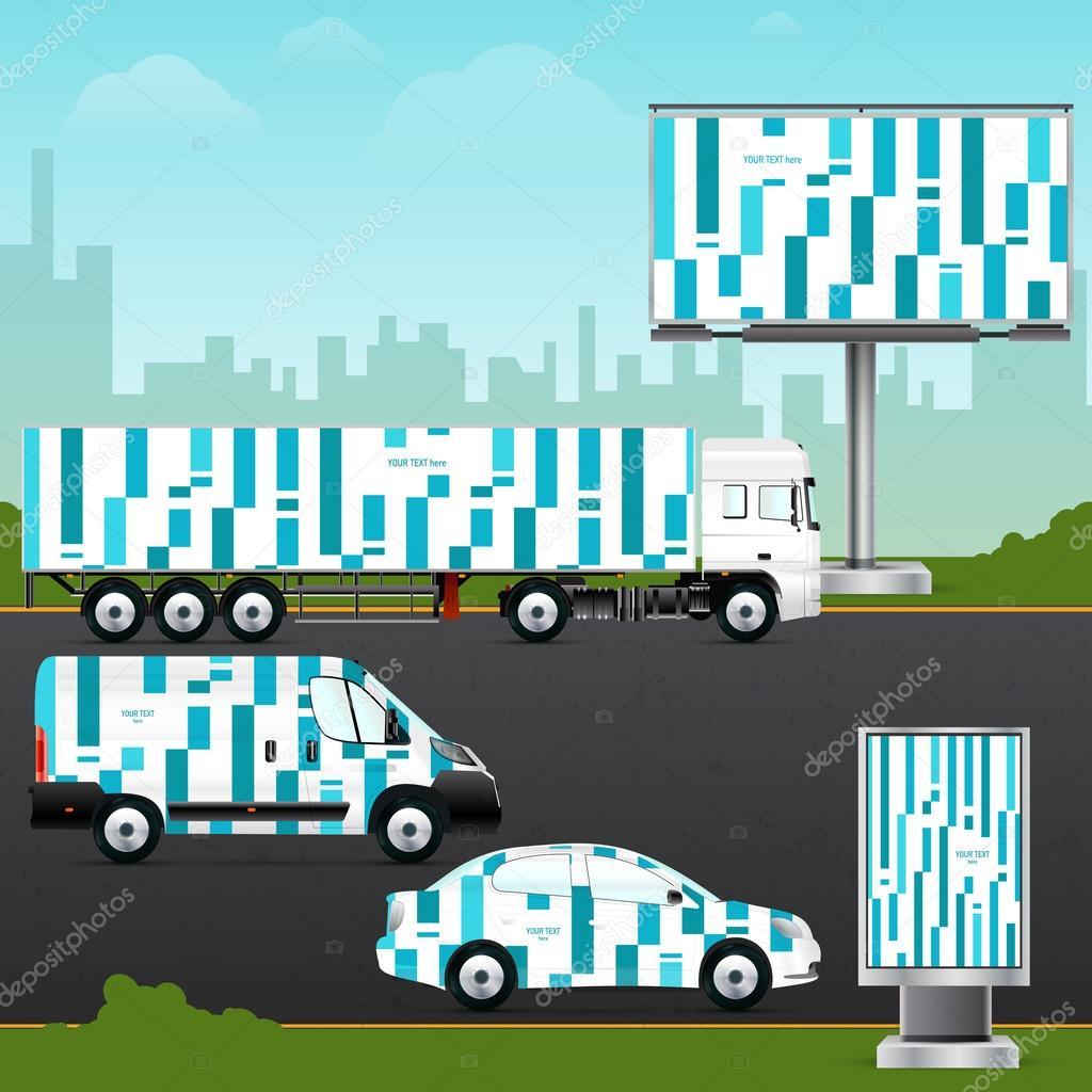 Design Vorlage Fahrzeug, Outdoor-Werbung — Stockvektor © vvvisual ...