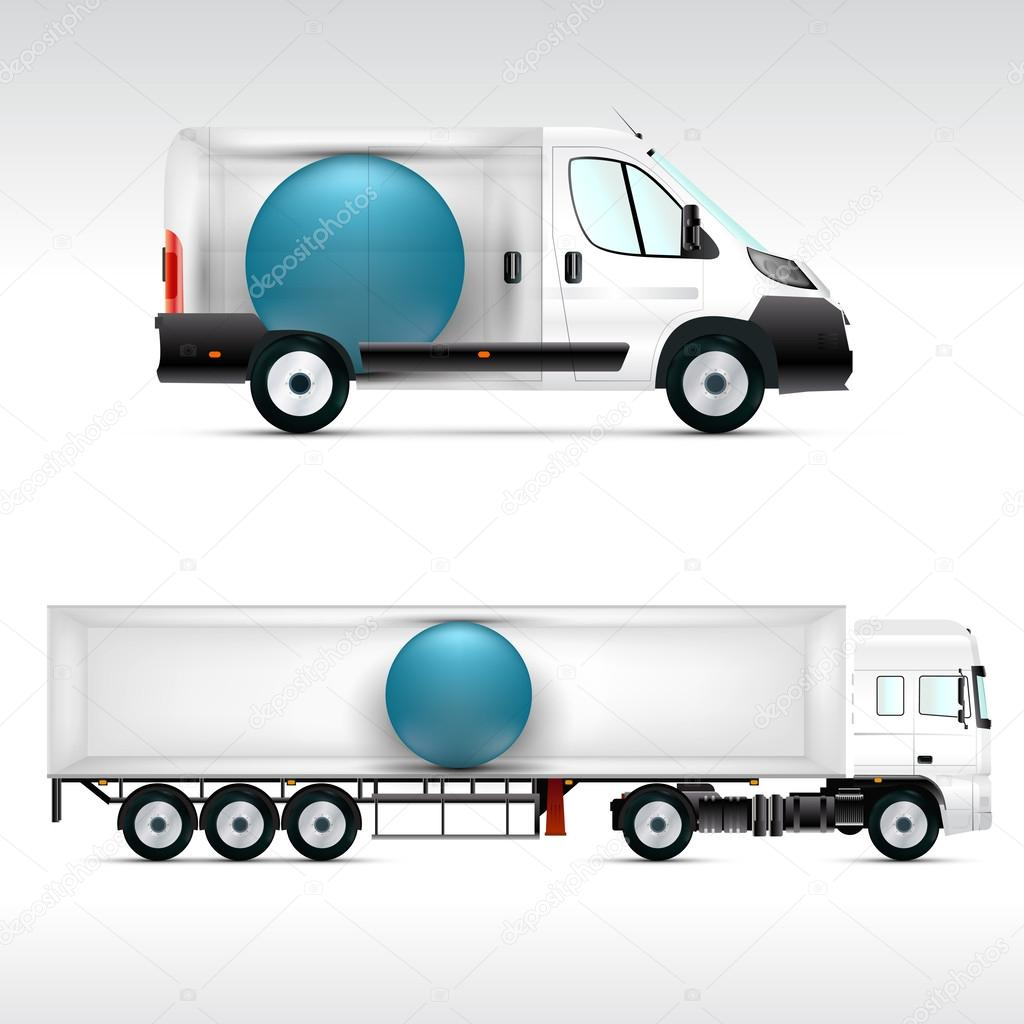 Vorlage-Fahrzeug für Werbung — Stockvektor © vvvisual #60560793