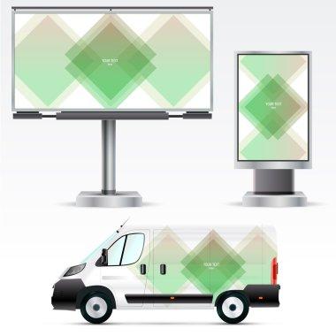 Corporate identity on car, billboard and citylight