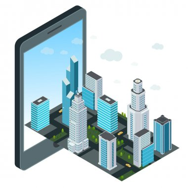 City and mobile device