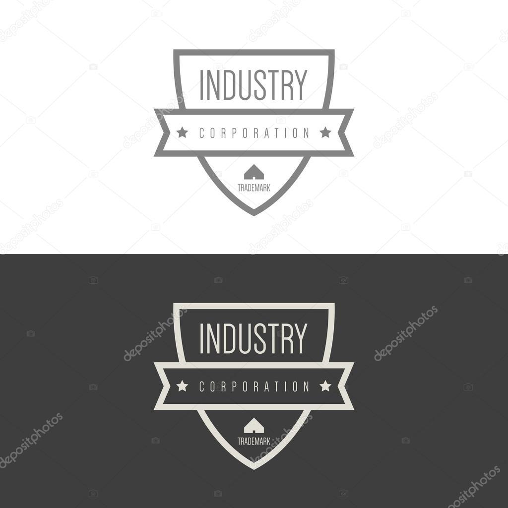 Industrial, construction companies logos — Stock Vector