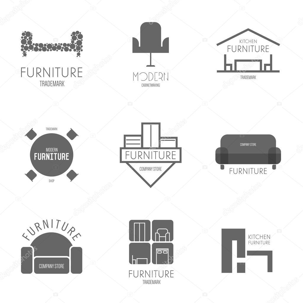 Furniture logo inspiration -  Label Inspiration With Furniture