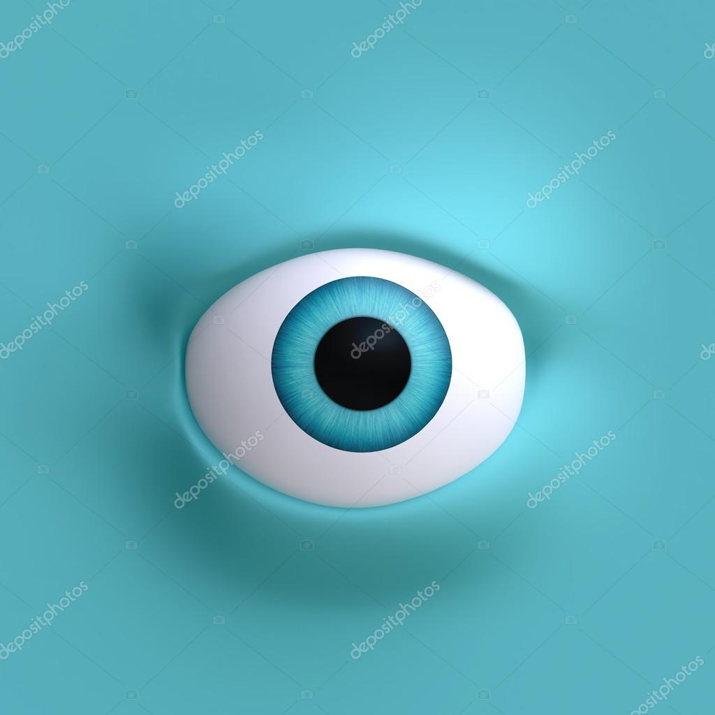 olho grande dos desenhos animados stock photo vvvisual 74255445