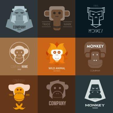 Logo inspiration with monkey.