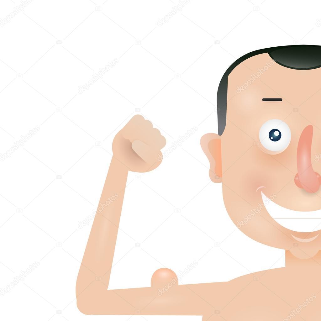Hombre delgado con músculos del brazo — Vector de stock © vvvisual ...