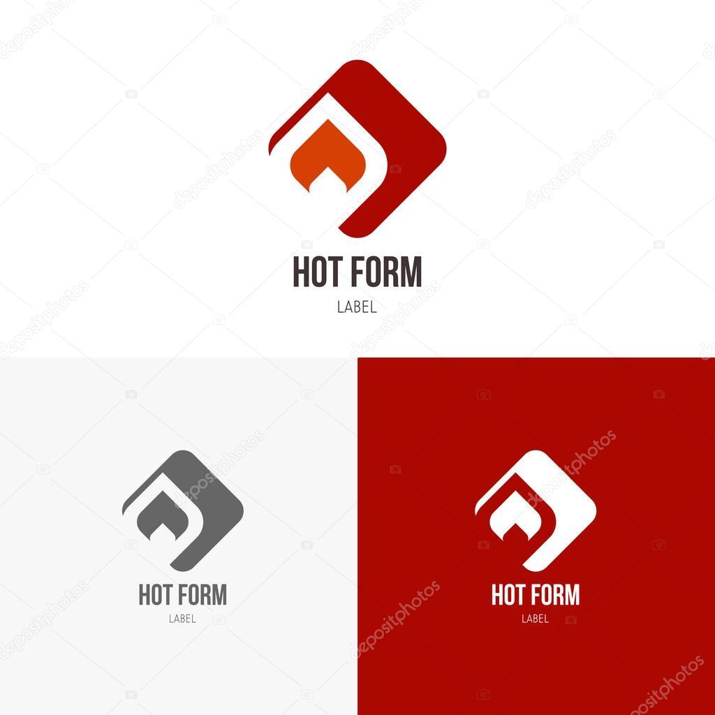 Vorlagen Logos mit dem Feuer — Stockvektor © vvvisual #96835848