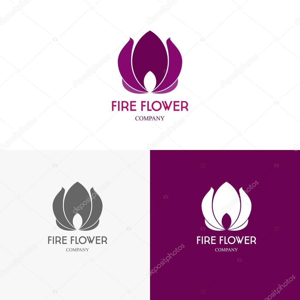 Vorlagen Logos mit dem Feuer — Stockvektor © vvvisual #96835850