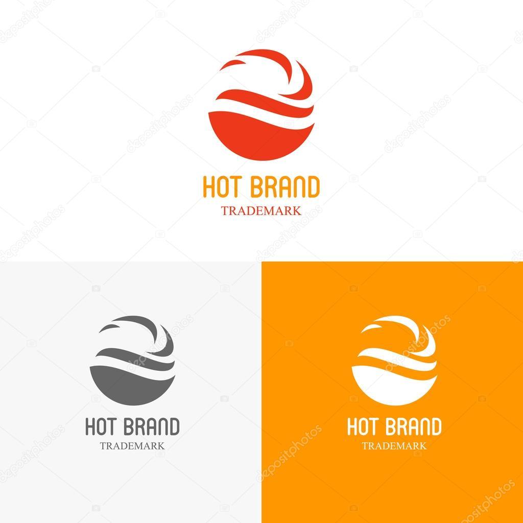 Vorlagen Logos mit dem Feuer — Stockvektor © vvvisual #96835852