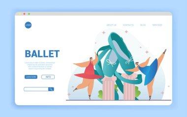Ballet concept with dancing ballerinas