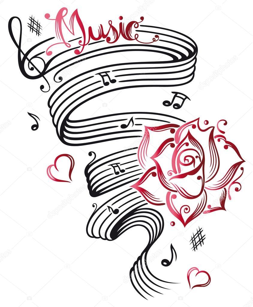 Hoja de música, notas musicales — Vector de stock © christine_krahl ...