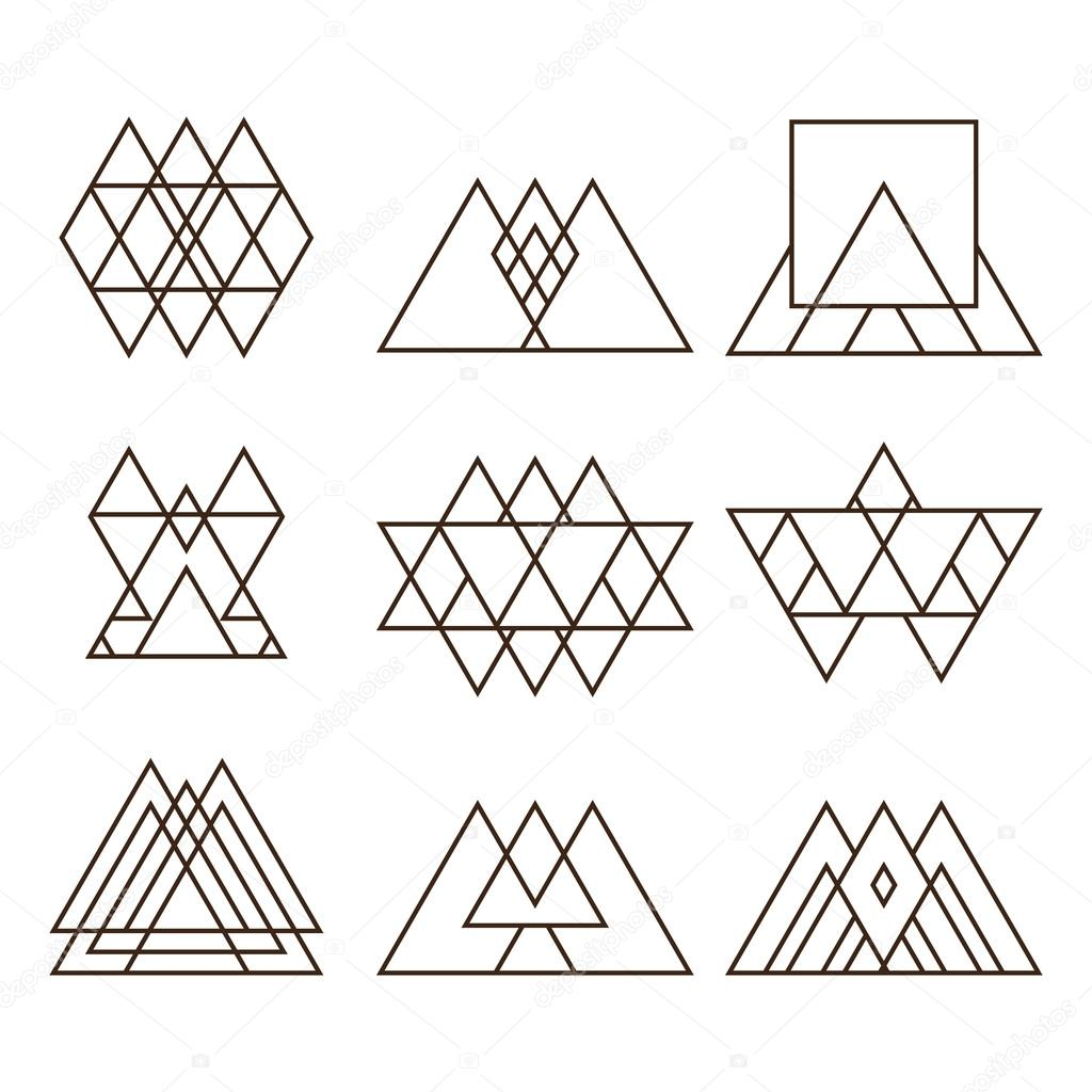 Fotos Plantillas Geometricas Para Tatuajes Conjunto De Figuras
