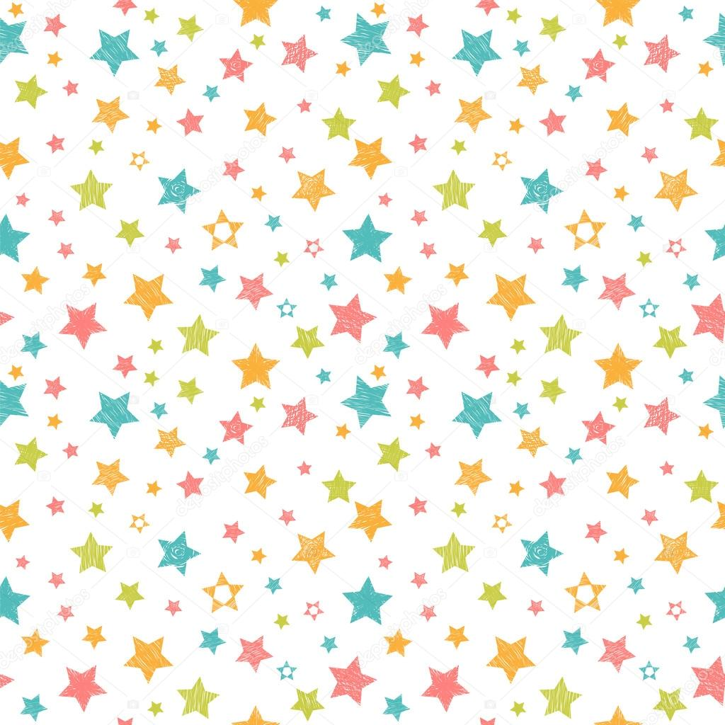 Cute seamless pattern with stars stylish print with hand drawn cute seamless pattern with stars stylish print with hand drawn colorful stars vector illustration vector de saenal78 voltagebd Gallery