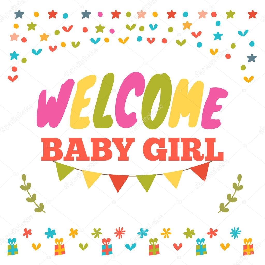 baby girl shower card welcome baby girl baby girl arrival post