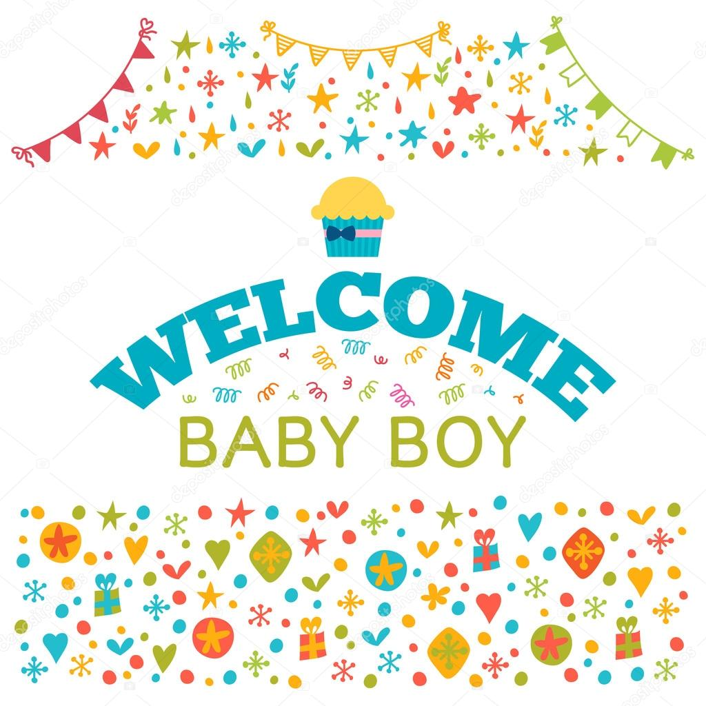 Welcome baby boy baby boy shower card baby shower greeting car welcome baby boy baby boy shower card baby shower greeting car stock vector kristyandbryce Image collections