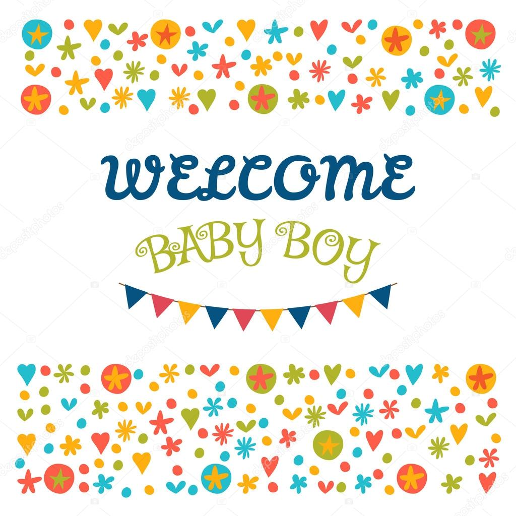 Welcome Baby Boy Baby Shower Greeting Card Baby Boy Shower Car