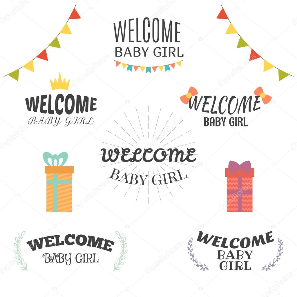 welcome baby girl baby girl arrival postcards baby shower card