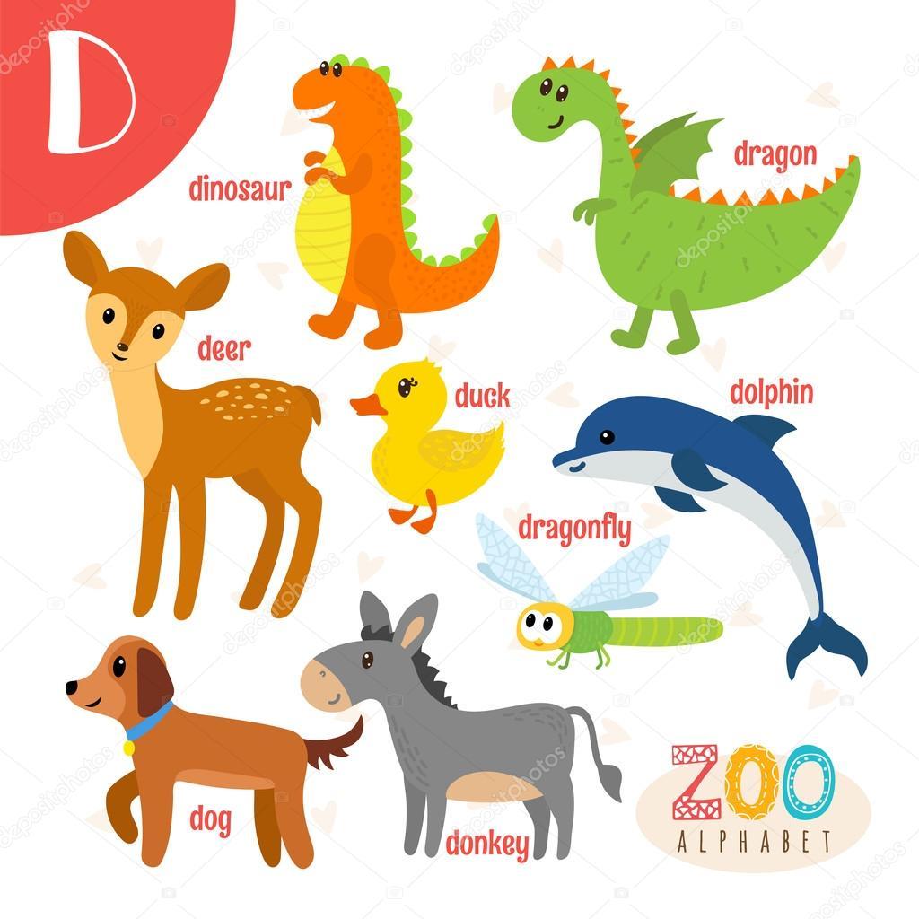 Awеѕоmе Animal Letter D Sevi Sev Kinuma Letra D De Animal