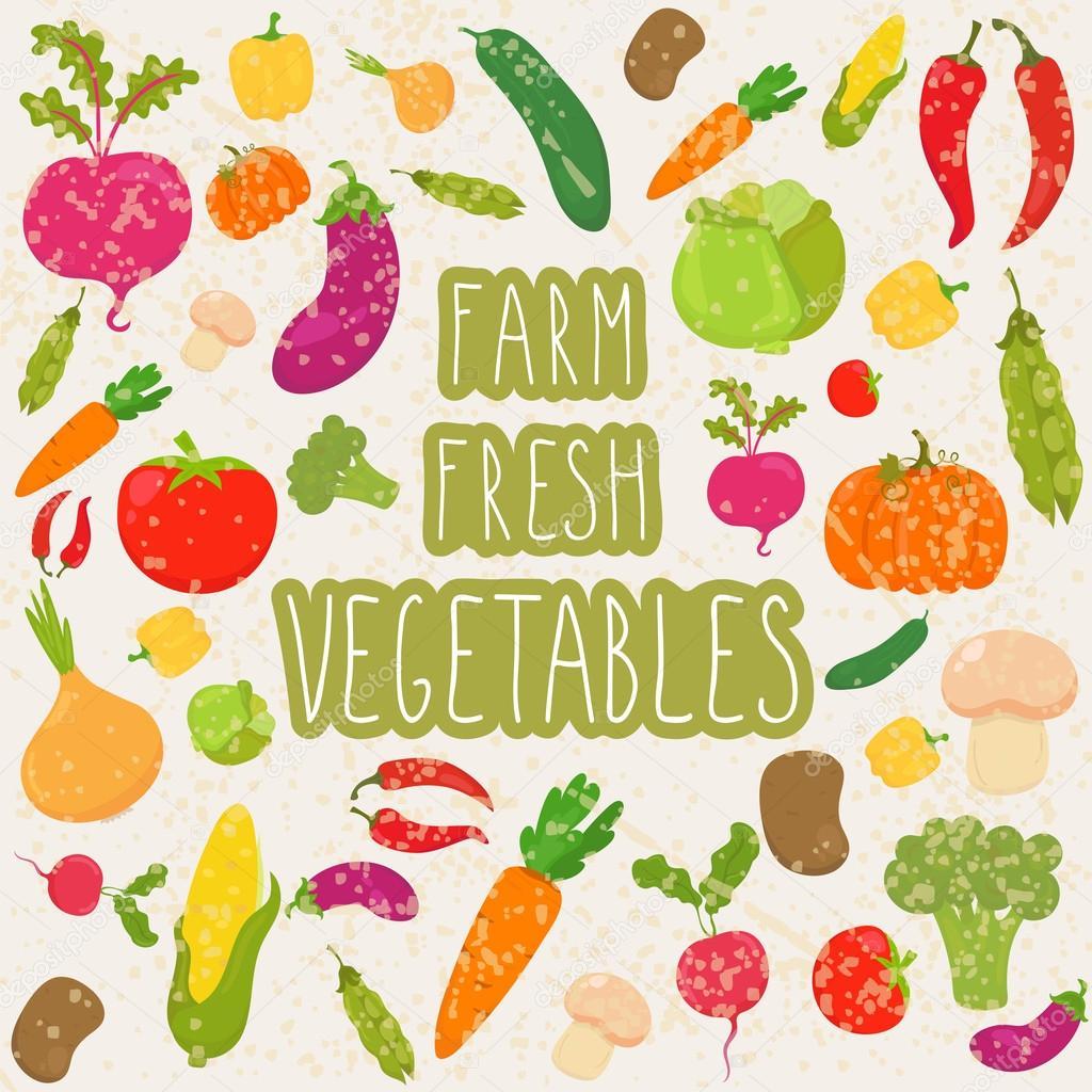 Farm fresh vegetables, healthy food