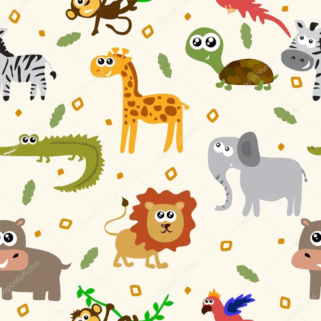 Patr n sin fisuras de animales africanos animales - Imagenes animales infantiles ...
